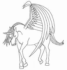 Malvorlagen Wings Unicorn Unicorn With Wings Lineart By Royalphoenix On Deviantart