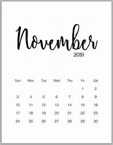 2019 minimalist printable calendar from january to