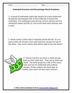 fraction stories worksheets 4109 image result for word problems with percents dommy s room fraction word problems word
