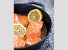 pan cooked salmon with skin