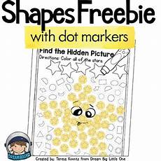 shapes worksheet with dot markers for preschool and kindergarten free
