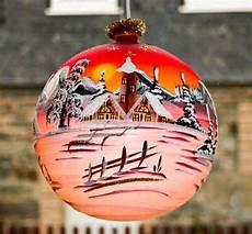 beleuchtete weihnachtskugeln fürs fenster beleuchtete glaskugel 18 cm lauschaer glaskunst