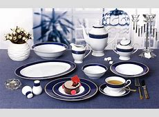 57 Piece 'Midnight' Bone China Dinnerware Set (Service for