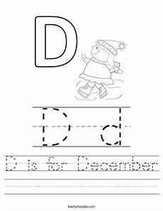 december worksheets free printable 15476 d is for december worksheet twisty noodle