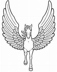 Malvorlagen Wings Unicorn Malvorlage Pegasus Pferd Schablonen