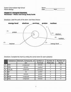 worksheet matter energy answer key