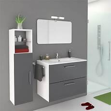 meuble colonne salle de bain leroy merlin meuble de salle de bains de 80 224 99 gris argent happy