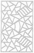 Mosaic Patter Coloring Page  Download & Print Online