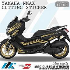 Variasi Stiker Nmax by Jual Gold 3 Cutting Sticker Nmax Striping Variasi