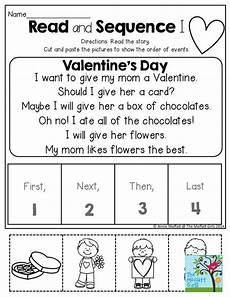 valentines cut and paste and comprehension pinterest