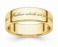 hallowed be thy name bible verse wedding ring yellow