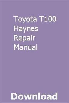 how to download repair manuals 1998 toyota t100 user handbook toyota t100 haynes repair manual repair manuals engine repair toyota