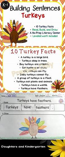 science worksheets on thanksgiving 12322 turkey facts for thanksgiving writing center building sentences thanksgiving writing