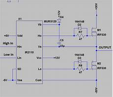 ir2110 mosfet driver separate vss and com power logic ground electrical engineering stack