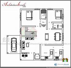 house plans in kerala with 3 bedrooms 1600 square feet house plan and elevation low cost house
