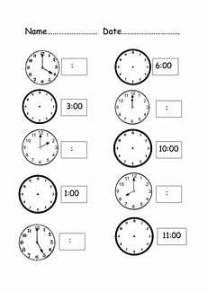 digital and analogue clocks by hadassaboyar teaching
