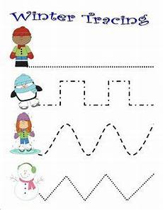 winter pre writing worksheets 20124 free winter trace line worksheet for 7 preschool preschool printables preschool