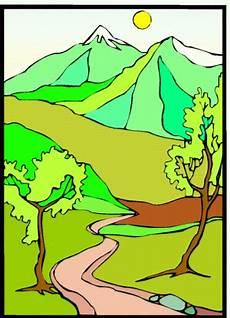 Malvorlagen Landschaften Gratis Berglandschaft Ausmalbild Malvorlage Landschaften