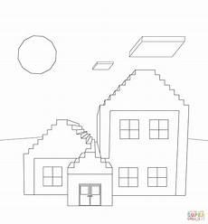 Minecraft Figuren Malvorlagen Minecraft Haus Ausmalbilder Mit Bildern Ausmalbilder