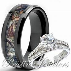 sterling silver ring his black titanium mossy tree