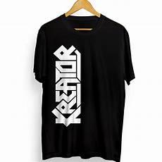 jual kaos distro kreator band 2 kaos dengan logo atau lambang band kreator warna hitam