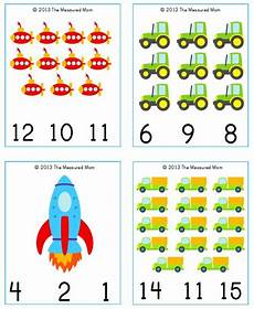 transportation math worksheets preschool 15212 free transportation printable transportation count clip cards 1 20 with images