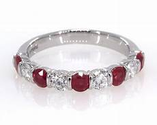 wedding rings womens stackable platinum ruby and diamond anniversary ring item 62488