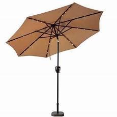 solar lighted market umbrellas patio umbrellas the home depot