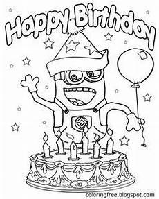 Malvorlage Minion Geburtstag Pin Gubik Auf Happy Birthsday Coloring