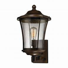 large bronze victorian style outdoor wall sconce seeded glass shade