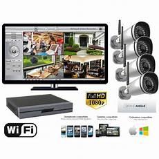 kit 4 camera surveillance exterieur kit surveillance exterieur wifi 2 megapixels 1080p 4