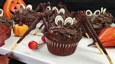Special Gruselige Spinnen Cupcakes Schoko
