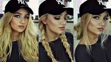 Hairstyles With Hats instagram baddie hair tutorial 3 baseball cap