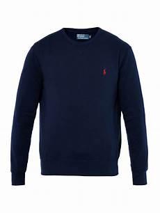 polo ralph crewneck sweatshirt in blue for