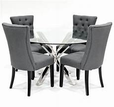 crossly dining table and sanderson grey dining chair set