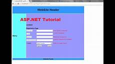 asp net tutorial 8 create a login website creating master page and apply it to existing aspx