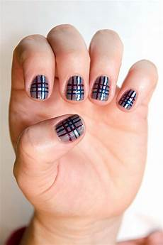 easy plaid nail art how to more