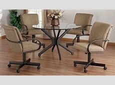 Dining Room Chairs With Casters   Foter   Dining room