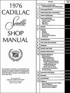 1939 cadillac wiring diagram 1976 cadillac seville repair shop manual original