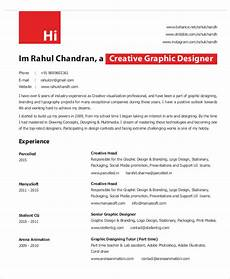 graphic designer cv format pdf