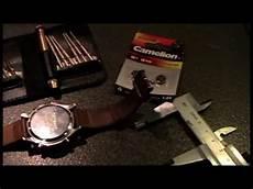 armbanduhr batterie wechseln drehverschluss how to