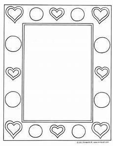 7 best images of printable to color picture frames frame