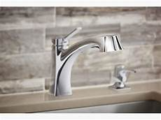 install kohler kitchen faucet k r30124 sd maxton pull out kitchen faucet with soap dispenser kohler