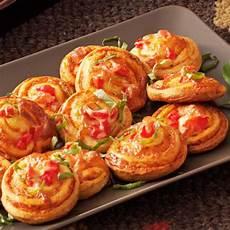 pinwheel pizza snacks recipe taste of home