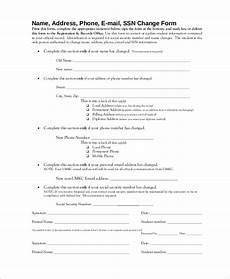 social security change of address form sle social security change of address 7 exles in pdf