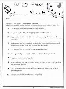 grammar worksheets for grade 5 nouns 25146 grammar minutes grade 5 creative teaching press 011699 rainbow resource