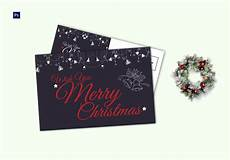 wishing merry christmas postcard template in adobe photoshop