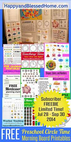 circle time worksheets for kindergarten 3592 free preschool circle time morning board printables