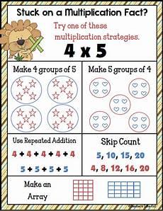 multiplication strategy worksheets grade 3 4815 multiplication strategies poster freebie multiplication strategies homeschool math