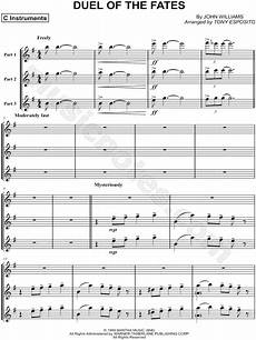 quot duel of the fates trio of c instruments quot from star wars sheet music in e minor download